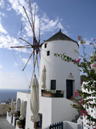 oia windmill santorini greece